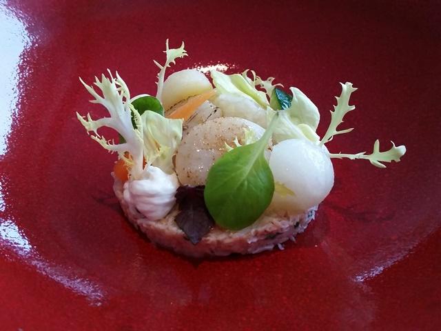 De Fuik Aalst salade sneeuwkrab