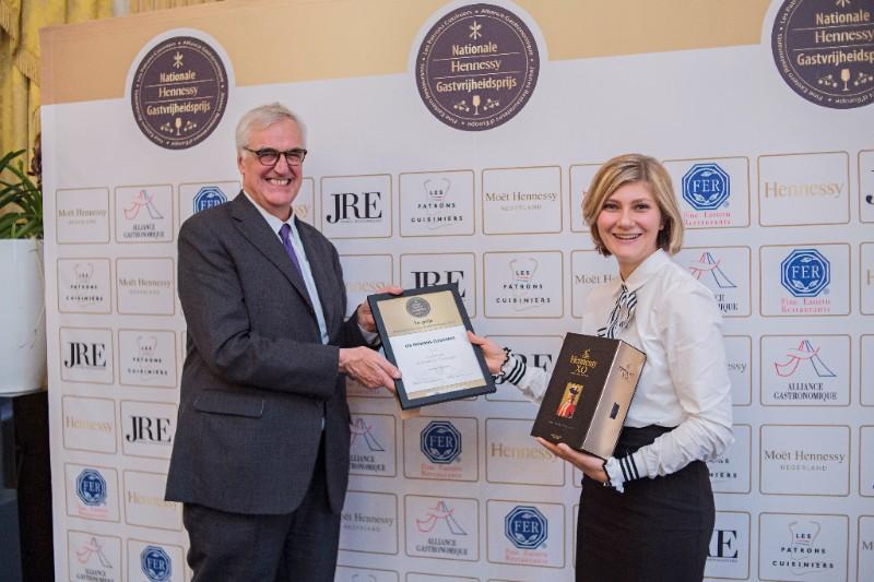 Nationale Hennessy Gastvrijheidsprijs 2017 winnaar Liz Barents