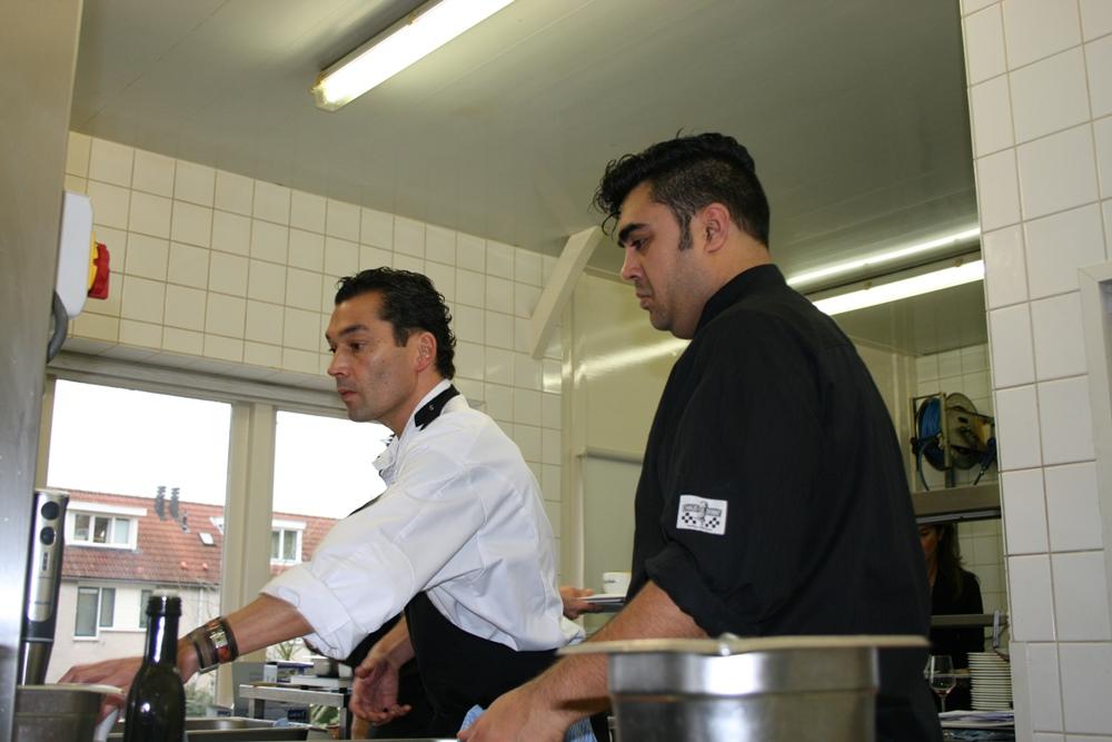 Palcal Jalhay en chef Arjuna Besemboen van Mooi Zeist