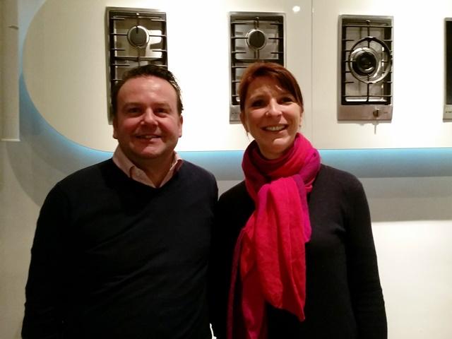 Marie-Pierre Piquemal met Lars Daniëls